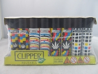 Clipper Refillable Lighter Leaves 11 48ct Display