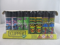 Clipper Refillable Lighter Psychedelic 13 48ct Display