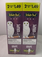 White Owl Cigarillos 2 for $1.49 ~ 30ct Pouch (Grape)