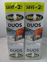 White Owl Cigarillos Save On 2 ~ 30ct Pouch DUOS (Coconut Rum)