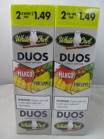 White Owl Cigarillos 2 for $1.49 ~ 30ct Pouch DUOS (Mango Pineapple)