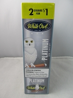 White Owl Cigarillos 2 for $1 ~ 15ct Pouch (Platinum Un-Sweet)