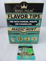 King Palm 7mm Corn Husk Flavor Tips 50ct Display (Magic Mint)