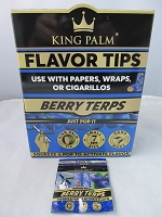 King Palm 7mm Corn Husk Flavor Tips 50ct Display (Berry Terps)