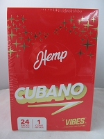 Vibes Hemp Cubano Cone King Size 24ct Display