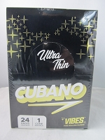 Vibes Ultra Thin Cubano Cone King Size 24ct Display