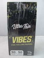 Vibes Rolling Paper 1-1/4 Ultra Thin 50 Papers 50 Booklet Display