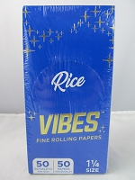 Vibes Rolling Paper 1-1/4 Rice 50 Papers 50 Booklet Display