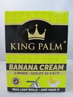 King Palm Banana Cream Mini Rolls 2pk, 20ct Display