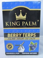 King Palm Berry Terps Slim Rolls 2pk, 20ct Display