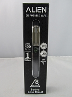 Alien Delta 8 Disposable Vape Device 1ml 900mg Delta 8 400 Puffs (Sativa Sour Diesel)