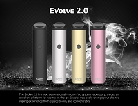 Yocan Evolve 2.0 E-Liquid, Thick Oil & concentrate Vaporizer Kit