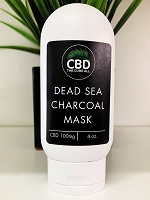 CBD The Cure All Dead Sea Charcoal Mask 100mg 4oz