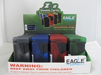 Eagle 2 Color Transparent Double Flame Torch 20ct Display