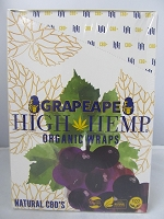 High Hemp Organic CBD Blunt Wraps 25ct (Grapeape)