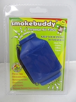 Smoke Buddy Junior Pocket Size Personal Air Filter (Blue)
