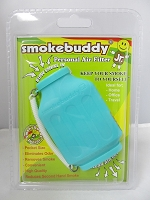 Smoke Buddy Junior Pocket Size Personal Air Filter (Teal)