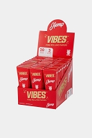 Vibes Fine Rolling Paper King Size Hemp Cones 3 Cone 30 Pack Display