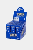 Vibes Fine Rolling Paper King Size Rice Cones 3 Cone 30 Pack Display