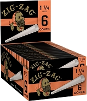 Zig Zag 1-1/4 Size Pre-Rolled Cones 6ct Pack 24ct Box