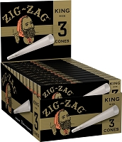 Zig Zag King Size Pre-Rolled Cones 3ct Pack 24ct Box