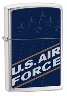 Zippo: US Air Force Brushed Chrome # 24827