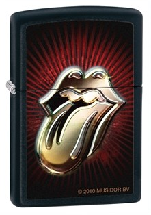 Zippo: Rolling Stones Tong Black Matte # 28253