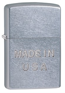 Zippo: Made In USA Street Chrome # 28491