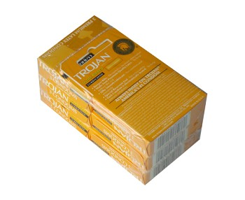 Trojan Ultra Ribbed Lubricated Condoms 6 pk