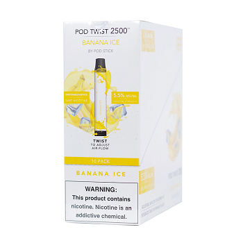 Pod Twist 2500 Puffs Disposable Device 6.5ml 5.5% 10ct Display (Multiple Flavors Available)