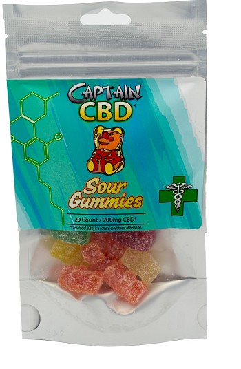 Captain CBD Sour Gummies 20ct 200mg