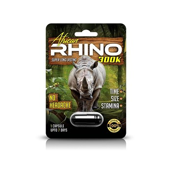 African Rhino 300K Male Enhancement 24ct Display