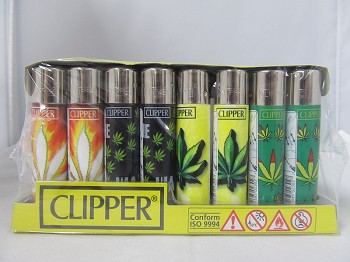 Clipper Refillable Lighter Hojas Maria 48ct Display