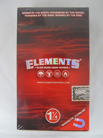 Elements Red Hemp 1-1/4 Paper 25 booklets Magnets Packs