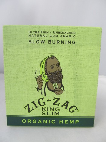 Zig Zag Organic Hemp King Size Slim Rolling Papers 24pack