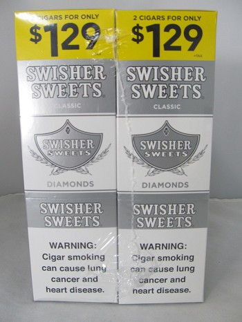 Swisher Sweet Cigarillos 2/$1.29 ~ 30ct Pouch (Diamonds)