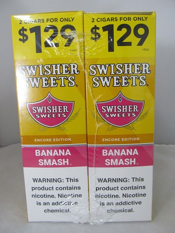 Swisher Sweet Cigarillos 2/$1.29 ~ 30ct Pouch (Banana Smash)