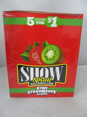 Show Cigarillos 5 Cigars For $1 ~ 15ct Pouch (Kiwi Strawberry)
