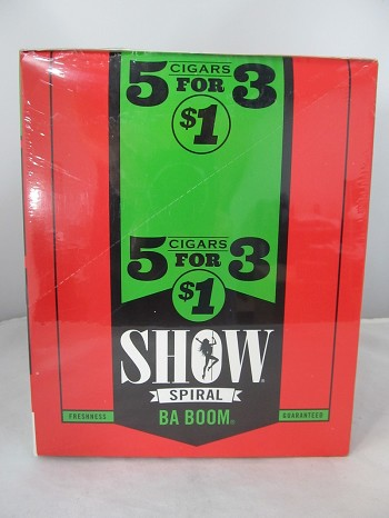 Show Cigarillos 5 Cigars For $1 ~ 15ct Pouch (Ba Boom)