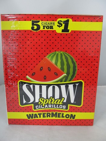Show Cigarillos 5 Cigars For $1 ~ 15ct Pouch (Watermelon)