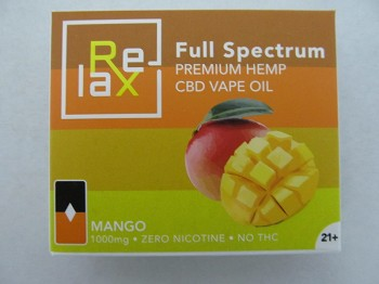 Relax Prefilled CBD POD 100mg Berry Mango