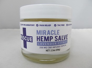 RESCUE Miracle CBD Hemp Salve 2.3oz 250mg Topical (Lavender Citrus)