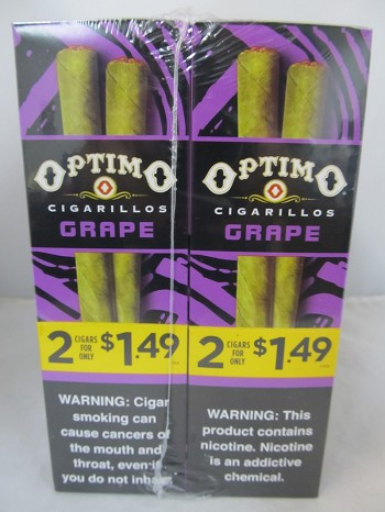 Optimo Cigarillos 2/$1.49 ~ 30ct Pouch (Grape)