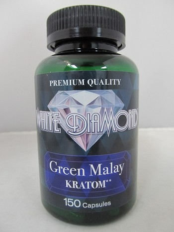 White Diamond Kratom Green Malay 150ct Jar