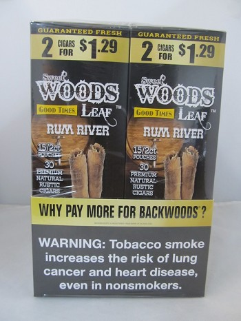 Sweet Woods by Good Times 2/$1.29 ~ 30ct Pouch (Rum River)