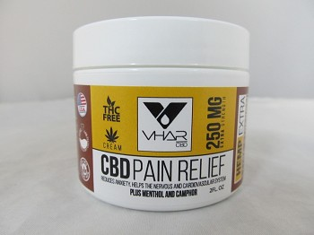 VHAR CBD Pain Relief Cream 250mg/2 OZ Jar