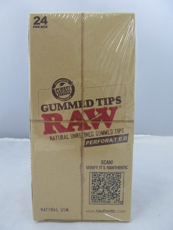 Raw Perforated Gummed Tips 24ct Display