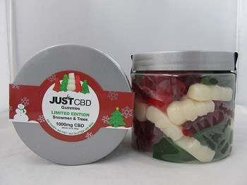 JUST CBD Gummies 1000mg (Snowmen & Trees)