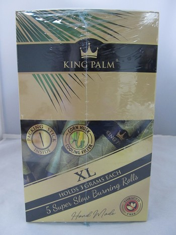 King Palm XL King Size Natural Organic Leaf Rolls Wrap 5pk 15ct Display