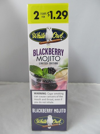White Owl 2 For $1.29 Blackberry Mojito Cigarillos 15ct Display